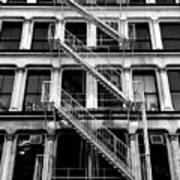 Outside Stairs Art Print