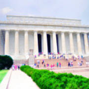 Outside The Lincoln Memorial Art Print