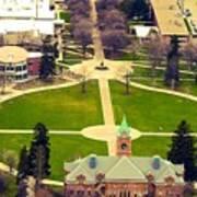 Oval At University Of Montana  Art Print