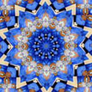 Ovarian Cancer Awareness Mandala Art Print
