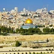 Over Jerusalem Art Print
