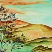 Over Orange Hills Art Print