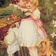 Over The Garden Wall Art Print by Frederick Morgan