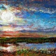 Over The Marsh Art Print