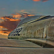 Over The Shoulder F-84g Art Print