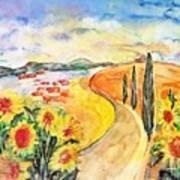 Over The Tuscan Hills Art Print by Regina Ammerman