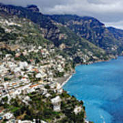 Overall View Of Part Of The Amalfi Coast In Italy Art Print