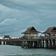Clouds Over The Naples Pier Art Print