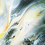 Overcast Sea Abstract Art Print