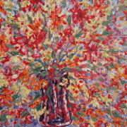 Overflowing Flowers. Art Print