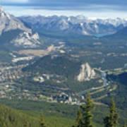 Overlook Banff Vista Art Print