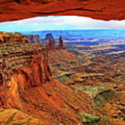 Overlooking Canyonlands National Park    Moab Utah Art Print