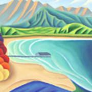 Overlooking Hanalei Bay Art Print