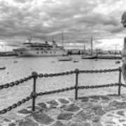 Overlooking Playa Blanca Harbour Art Print