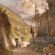 Overlooking Ramsau Bei Berchtesgaden Art Print