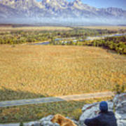 Overlooking The Grand Tetons Jackson Hole Art Print