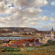 Overlooking The Town Of Dieppe Art Print