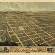 Owatonna, Minnesota 1870 Art Print