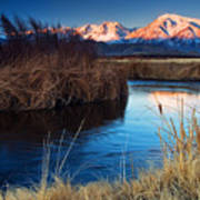 Owens River Sunrise Art Print