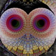 Owl Abstract Art Print