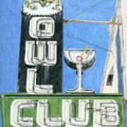 Owl Club Art Print
