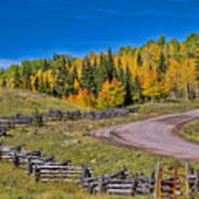 Owl Creek Pass Road Art Print