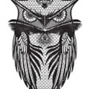 Owl Illustration Art Print