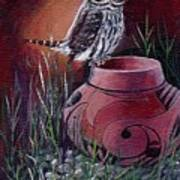 Owl N Pot Art Print