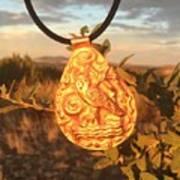 Owl Pendant Art Print