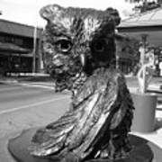Owl Sculpture Grand Junction Co Art Print