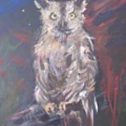 Owl Watchers Art Print by Paula Marsh