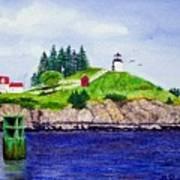 Owls Head Lighthouse Art Print