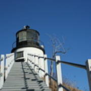 Owls Head Lighthouse Winter Art Print