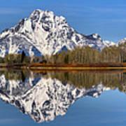 Oxbow Snake River Reflections Art Print