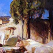 Oxen Resting Art Print
