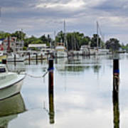 Oxford City Dock Eastern Shore Of Maryland Art Print by Brendan Reals