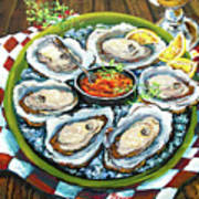 Oysters On The Half Shell Art Print by Dianne Parks