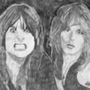 Ozzy Osbourne And Randy Rhoads Art Print