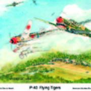 P-40 Flying Tigers Art Print