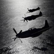 P-51 Cavalier Mustang With Supermarine Art Print by Daniel Karlsson
