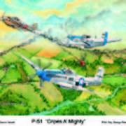 P-51 Cripes A Art Print