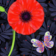 P Is For Pretty Poppy Art Print