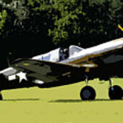 P40 Take Off Art Print