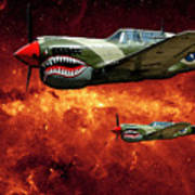 P40s A Long Ways From Home Art Print