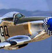 P51d Mustang At Salinas Art Print