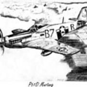P51d Mustang Art Print