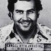 Pablo Escobar Mug Shot 1991 Vertical Art Print