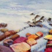 Pacific Coastline Art Print