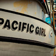 Pacific Girl Art Print