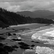 Pacific Ocean Moody Scenic Art Print